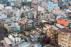 Punto di vista superiore di Ho Chi Minh City Immagini Stock