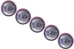 Punto di vista superiore di Tin Cans Fotografia Stock