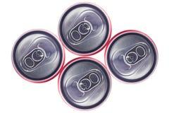 Punto di vista superiore di Tin Cans Fotografia Stock Libera da Diritti