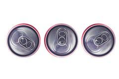 Punto di vista superiore di Tin Cans Immagini Stock Libere da Diritti
