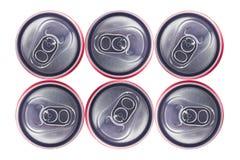 Punto di vista superiore di Tin Cans Immagine Stock Libera da Diritti
