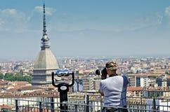 Punto di vista di Torino Mola Antonelliana Fotografie Stock Libere da Diritti