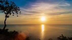 Punto di vista di tramonto dal mare Fotografia Stock Libera da Diritti