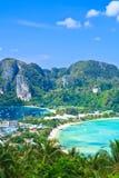 Punto di vista tropicale dell'isola Fotografie Stock Libere da Diritti