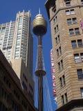 Punto di vista unico di Sydney Tower Fotografia Stock Libera da Diritti