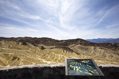 Punto di Zabriskie, Death Valley, California, S.U.A. Fotografie Stock Libere da Diritti
