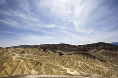 Punto di Zabriskie, Death Valley, California, S.U.A. Fotografia Stock Libera da Diritti