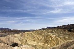 Punto di Zabriskie, Death Valley, California, S.U.A. Immagini Stock
