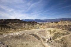 Punto di Zabriskie, Death Valley, California, S.U.A. Immagini Stock Libere da Diritti