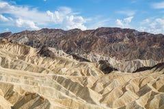 Punto di Zabriskie nel parco nazionale di Death Valley, California, U.S.A. Fotografia Stock Libera da Diritti