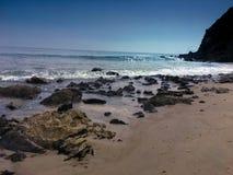 Punto Dume, costa di Malibu fotografie stock libere da diritti