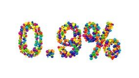 Punto el nueve por ciento hecho de bolas coloridas Fotos de archivo libres de regalías