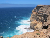 Punto escarpado, punto Westernmost, bahía del tiburón, Australia occidental fotografía de archivo