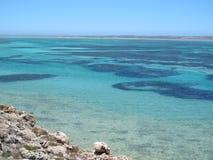 Punto escarpado, punto Westernmost, bahía del tiburón, Australia occidental fotos de archivo