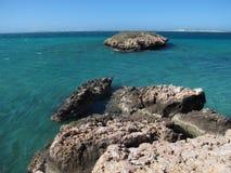 Punto escarpado, punto Westernmost, bahía del tiburón, Australia occidental imágenes de archivo libres de regalías
