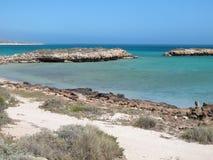 Punto escarpado, punto Westernmost, bahía del tiburón, Australia occidental imagen de archivo libre de regalías
