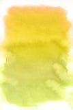 Punto giallo, priorità bassa astratta dell'acquerello Fotografia Stock Libera da Diritti