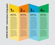 4 punto Infographic Immagini Stock