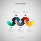 Punto infographic di concetto di affari a riuscito Fotografia Stock Libera da Diritti