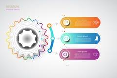 Punto integrato del modello 3 di progettazione di cronologia di Infographics di affari royalty illustrazione gratis