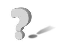 punto interrogativo 3D con l'ombra del contrassegno di esclamazione Fotografie Stock Libere da Diritti