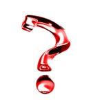 Punto interrogativo 3D rosso isolato fotografie stock