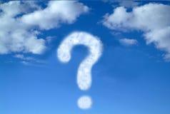 Punto interrogativo al cielo Fotografia Stock Libera da Diritti