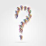 Punto interrogativo dai piccoli punti interrogativi Fotografia Stock