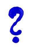 Punto interrogativo blu Fotografia Stock