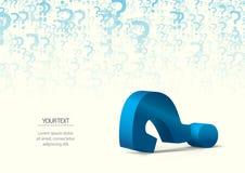 Punto interrogativo come ondulazione dell'acqua illustrazione vettoriale