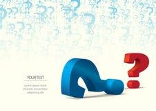 Punto interrogativo come ondulazione dell'acqua royalty illustrazione gratis