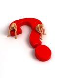 Punto interrogativo (con il percorso di residuo della potatura meccanica) Immagine Stock