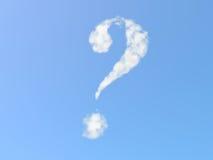 Punto interrogativo dalle nubi Fotografia Stock Libera da Diritti