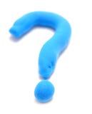 Punto interrogativo del Plasticine Fotografia Stock