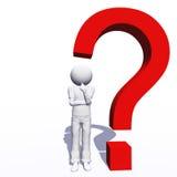 Punto interrogativo di alta risoluzione Immagini Stock Libere da Diritti