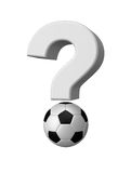 Punto interrogativo di calcio Fotografia Stock Libera da Diritti