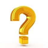 Punto interrogativo dorato Immagini Stock