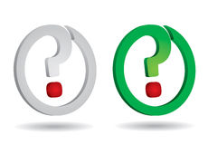 Punto interrogativo per la vostra progettazione Immagini Stock Libere da Diritti