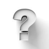 Punto interrogativo su fondo bianco Fotografie Stock
