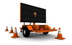 Punto interrogativo sul segno del lavoro di strada (piccolo) Immagini Stock