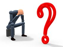 Punto interrogativo v2 Immagini Stock