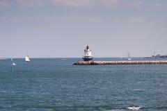 Punto Ledge Lighthouse de la primavera Foto de archivo libre de regalías