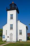 Punto LighthouseEscanaba, Michigan de la arena Fotografía de archivo libre de regalías