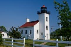 Punto LighthouseEscanaba, Michigan de la arena Fotos de archivo libres de regalías
