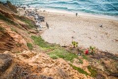 Punto Loma San Diego Surfers immagini stock libere da diritti