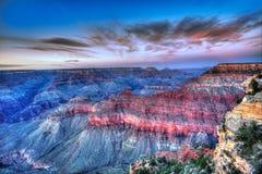 Punto los E.E.U.U. de la madre del parque nacional de Grand Canyon de la puesta del sol de Arizona Fotografía de archivo libre de regalías