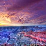 Punto los E.E.U.U. de la madre del parque nacional de Grand Canyon de la puesta del sol de Arizona Imagen de archivo libre de regalías