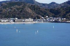 Punto marino di sport nella costa del Giappone Shonan fotografie stock libere da diritti