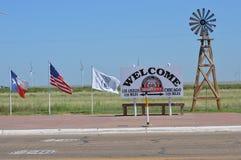 Punto mediano de Route 66 Imágenes de archivo libres de regalías