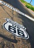 Punto mediano en Route 66 histórico Foto de archivo